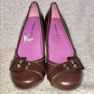 Madden girl  kitten heel pump, buckle toe size 7.5